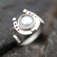Silver Horseshoe Ring