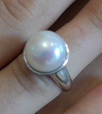 large pearl cup ring