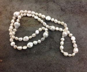Big and small freshwater pearls