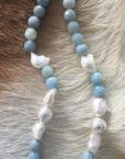 Aquamarine Freshwater Pearl necklace