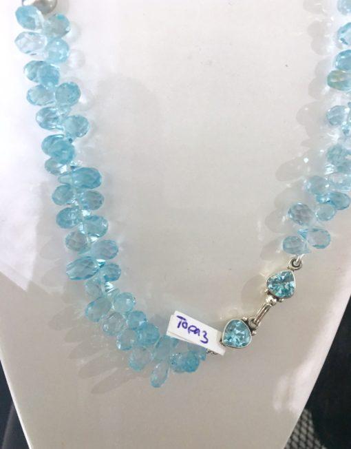 Blue Topaz Tahitian Keshi necklace