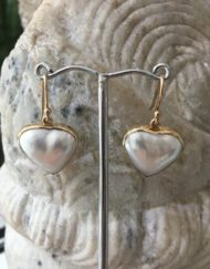 Heart Mabe earrings