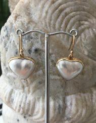 Heart Mabe earrings
