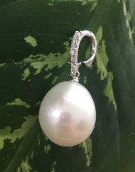 Australian South Sea Pearl enhancer White gold Diamonds