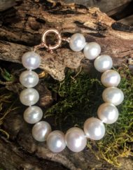 9ct Rose Gold Freshwater Pearl Bracelet