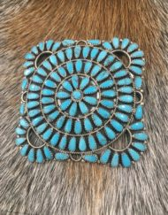 Turquoise Zuni Pendent brooche