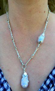 David's Silver twist necklace