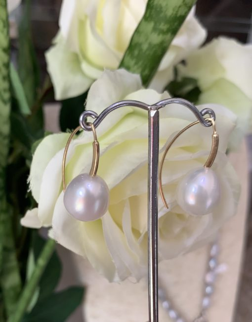 South sea Pearl modern hook Earring