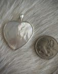 heart shaped mother of pearl pendent